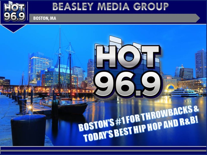 The New HOT 96.9 is Boston's #1 for Throwbacks and Today's Best Hip Hop and R&B. HOT 96.9 plays artists like 2Pac, Rihanna, 50 Cent, Beyoncé, Ludacris, Notorious B.I.G., Kanye West, Usher, The Fugees and Mary J. Blige. HOT 96.9  offers a variety of marketing opportunities for it's partners.  Please contact our General Sales Manager, Bob Price for more…