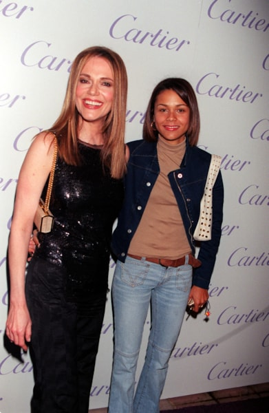 "381685 12: Actress Peggy Lipton with her daughter, Kidada Jones (her father is producer Quincy Jones) attend Cartier Haute Joaillerie 2000 ""Perles Et Diamants"" held at Eurochow November 9, 2000 in Los Angeles, CA. (Photo by Newsmakers)"