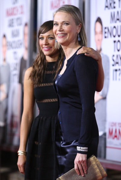 LOS ANGELES, CA - MARCH 17:  Actress Rashida Jones and her mother actress Peggy Lipton arrives at the Dreamworks' premiere of 'I Love You, Man' held at Mann's Village Theater on March 17, 2009 in Westwood, California.  (Photo by Jason Merritt/Getty Images)